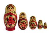 nested russian doll 5pcs