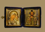 RUSSIAN DIPTYCH WEDDING  ICON