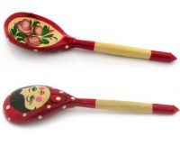 Wooden Khokhloma Hand Painted Spoon