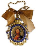 CHRIST  ENAMEL FRAMED ICON PENDANT