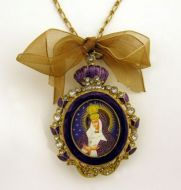 ENAMEL FRAMED ICON PENDANT