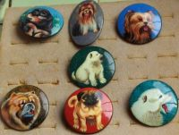 SET OF 7 DOGS PINS