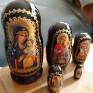 Religious icon RUSSIAN NESTING DOLL 5 PCS large 4.2 *inches