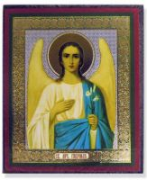 Russian wood icon St Gabriel