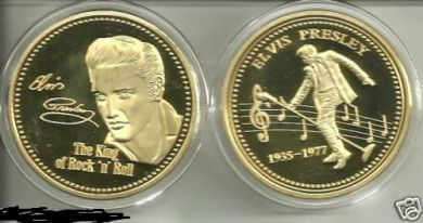 ELVIS PRESLEY THE KING 24KT GOLD COLLECTIBLE COIN
