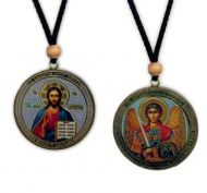 REVERSABLE ST MICHAEL/CHRIST ICON W/ROPE NEW!!!!