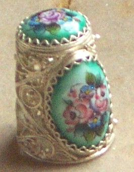 HAND PAINTED THIMBLE