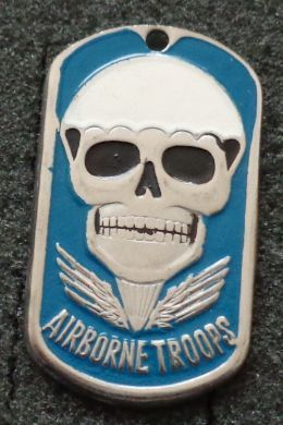RUSSIAN DOG TAG PENDANT MEDAL AIRBORNE TROOPS SKULL