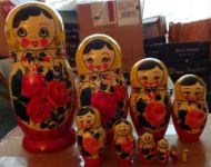 Huge traditional  10 pcs wood nesting doll 11 inches