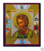 Russian wood icon St Andrew THE APOSTLE