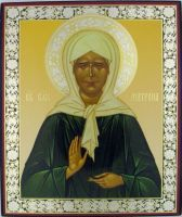 Russian wood icon St Matrona /Moscow/