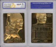MICHAEL JORDAN 23K GOLD INGOT BAR TABLET CARD